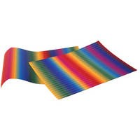 Wellpappe, E-Welle, 10er Pack, 50x70 cm, Regenbogen
