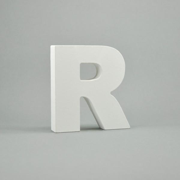 """MDF- Buchstaben """"R"""", weiß"""