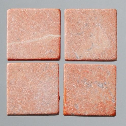 Efco Mosaik Echtstein pur, 10 x 10 mm, rot