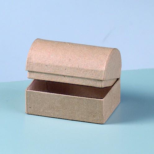 Box Truhe, aus Pappmachè, 8 x 5,5 x 5,5 cm
