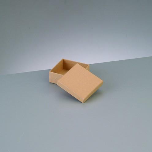 Box Quadrat, aus Pappmaché, 6,5 x 6,5 x 2,7 cm