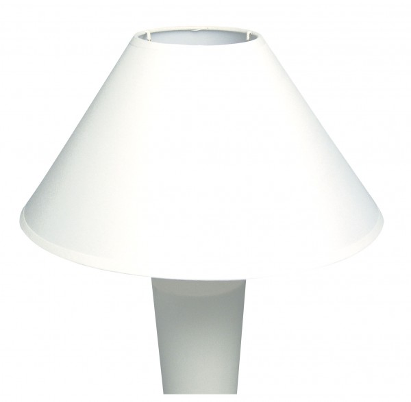 Lampenschirm, konisch, rund, 30 cm Ø unten, 10 cm Ø oben, Höhe 19