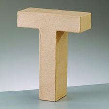 Buchstabe T, 10 x 3 cm, aus Pappmaché