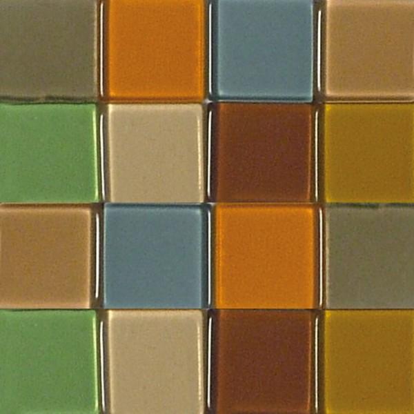 Mosaic Acryl, 1 x 1 cm, ca. 50 g, transparent, sienna gebrannt