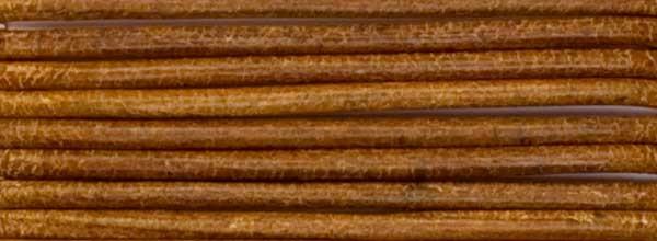 Lederriemen, 2 mm Ø - 1 m, Rindsleder, khaki