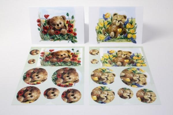 3-D Karten-Set, 2 Stück inkl. Kuverts, 14,8 x 10,5 cm
