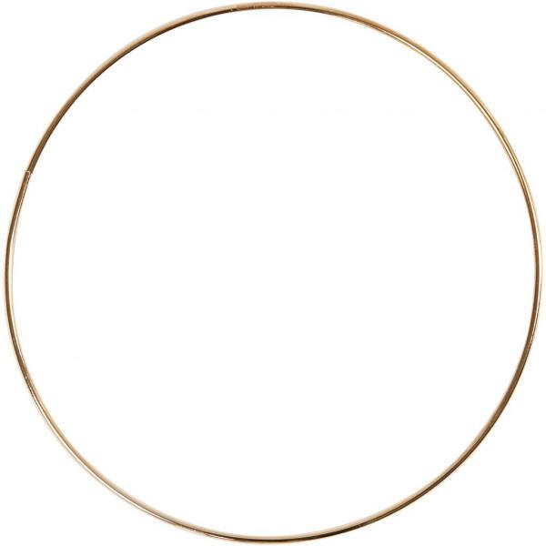 Drahtring, gold glänzend, 30 cm