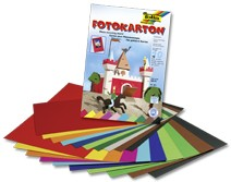 Fotokartonblock, DIN A3, 10 Blatt, 10-farbig