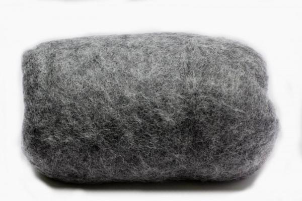 Merino-Filzwolle, im Vlies, 50 g, Schiefergrau