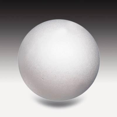 Styroporkugel, 8 cm Ø weiß, einteilig massiv