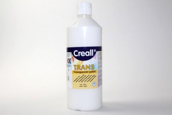 Creall-trans, transparente Farbe, 500 ml, weiß