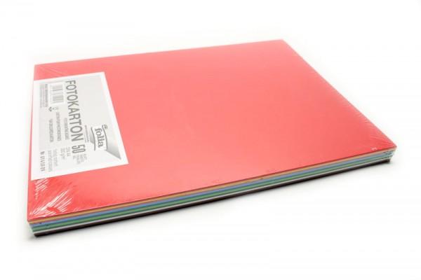 Fotokarton, 50er Pack, 300 g/m², DIN A4, 10 Farben sortiert