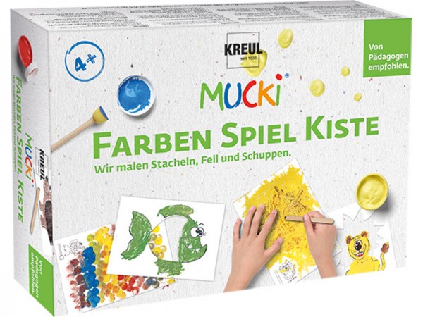 MUCKI - Farben Spiel Kiste - Wir malen Stacheln, Fell und Schuppen