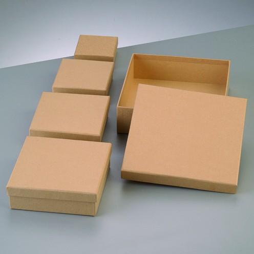 Boxen-Set Quadrat, aus Pappmaché, 5-teilig