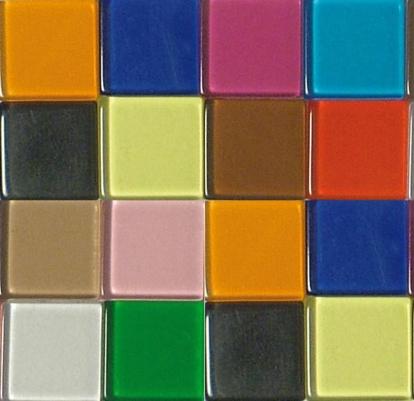 Mosaic Acryl, 1 x 1 cm, ca. 50 g, transparent, bunt