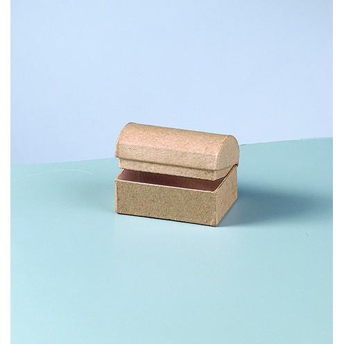 Box Truhe, aus Pappmachè, 6 x 4 x 4 cm