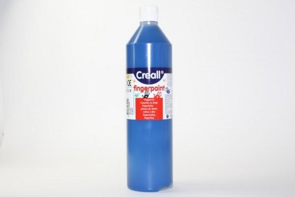 Creall-Fingermalfarbe, 750 ml Flasche, blau