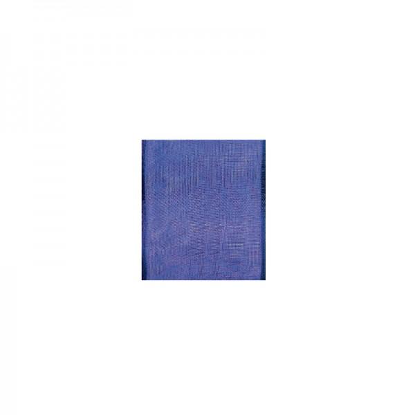 Chiffonband mit Drahtkante, 15mm breit, 5m lang - lila