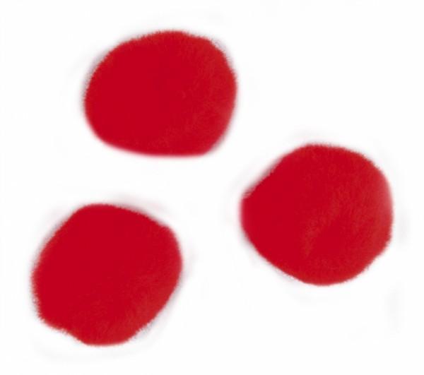 Pompons, Ø 7 mm, 70 Stück, rot