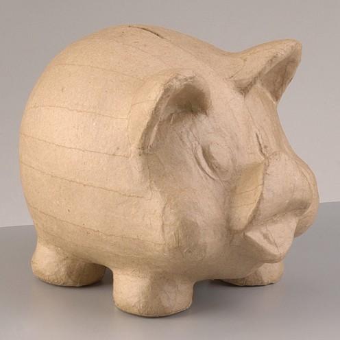 Spardose Schwein, aus Pappmachè, 19 x 13 x 15 cm