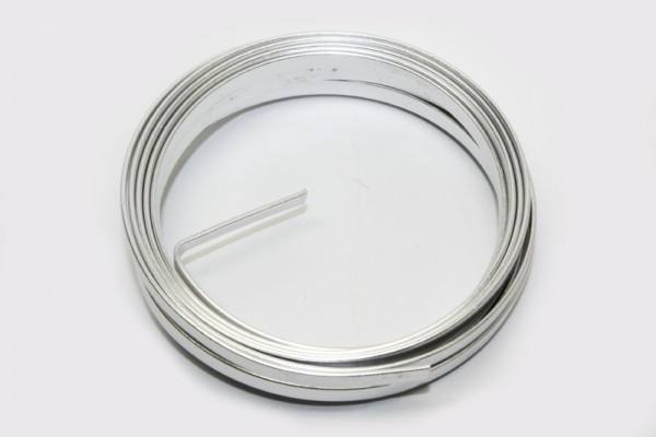 Aluminiumflachdraht, Ø 1,2 x 4 mm, 2 m, silber