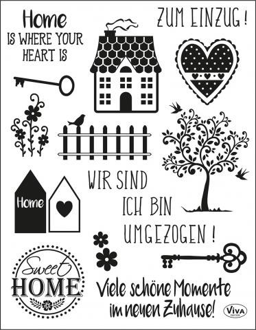 Viva Decor Silikonstempel, Sweet Home