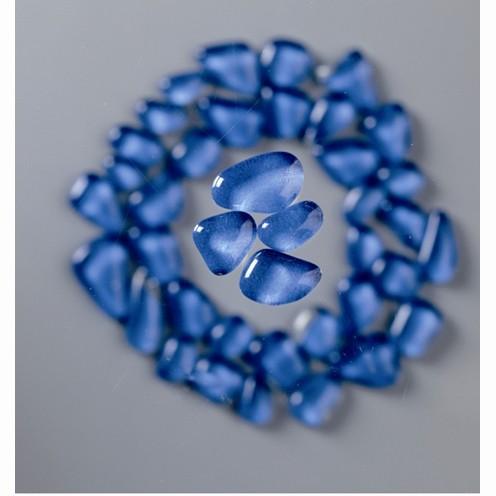 Mosaik Glasstein soft, 8-25 mm, hellblau