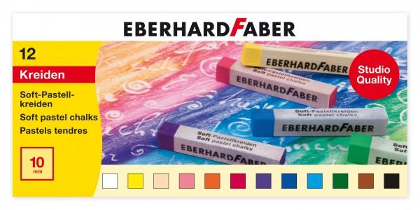 EBERHARD FABER Soft-Pastellkreide, 12 Farben im Kartonetui