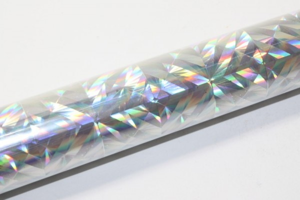 Hologrammfolie, selbstklebend, 0,4 x 1m, Magic silber