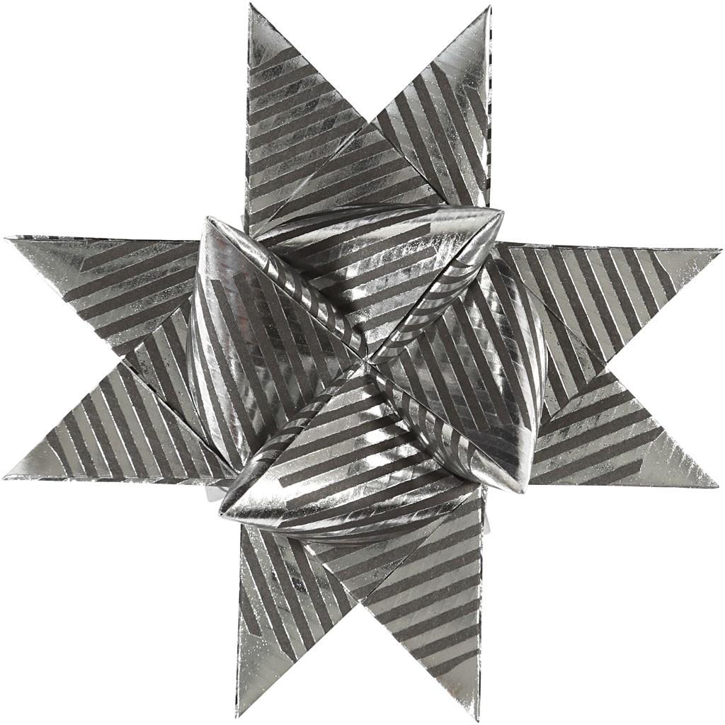 fr belstern streifen metallic spitzen silber schwarz 15mm 25mm kreativ depot. Black Bedroom Furniture Sets. Home Design Ideas