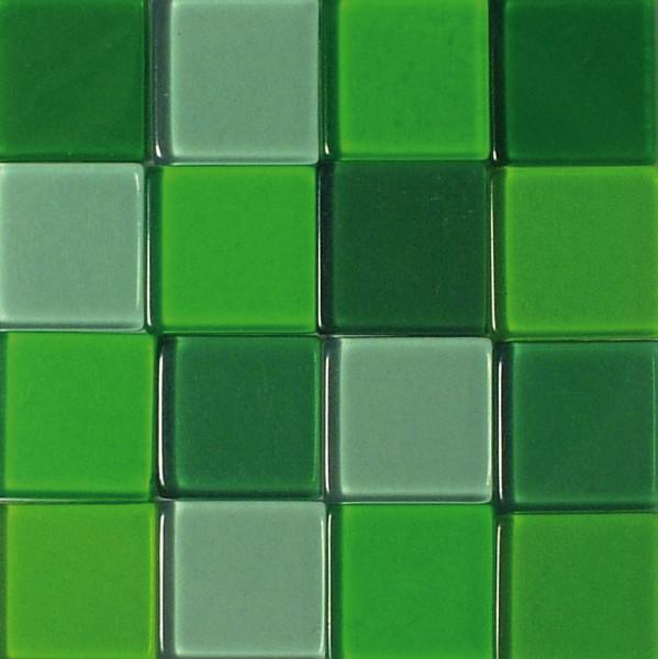 Mosaic Acryl, 1 x 1 cm, ca. 50 g, transparent, jade