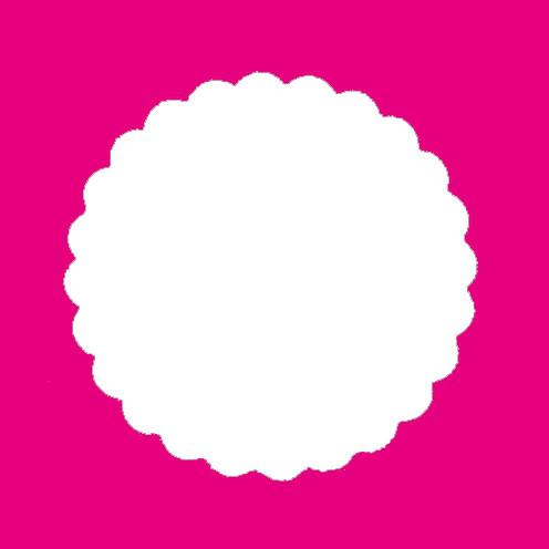 Stanzer Kreis gezahnt, ca. 7,5 cm