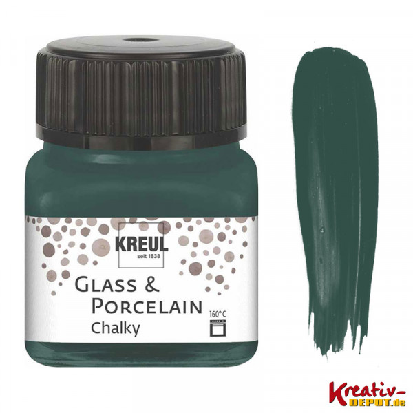 Glass & Porcelain Chalky - Cottage Green