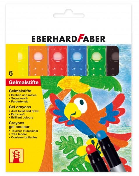 EBERHARD FABER Gelmalstifte, 6 Farben