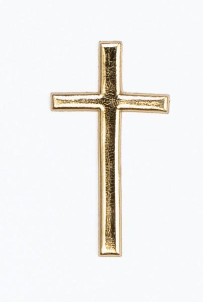 Wachsmotiv Kreuz, 40 x 22 mm, gold