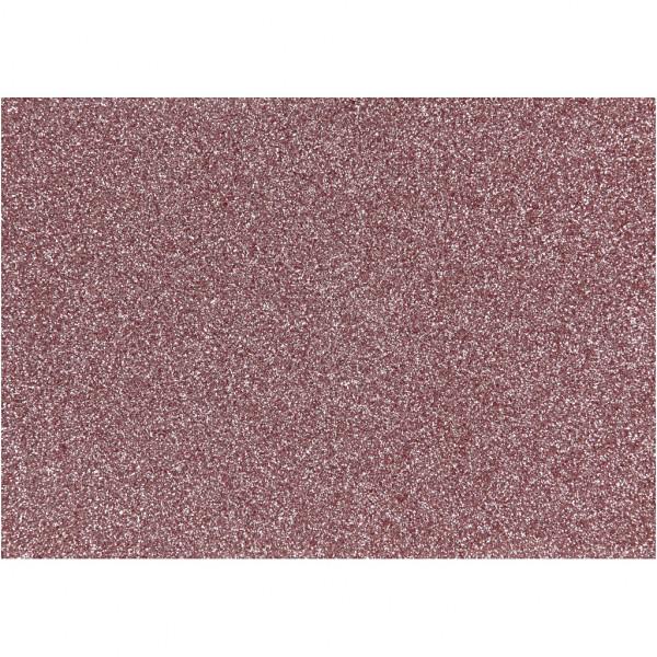 Glitter-Bügelfolie, A5 14,8x21 cm, rosa