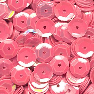 Pailletten, rund, gewölbt, 6 mm, 1400 St, rosa-iris