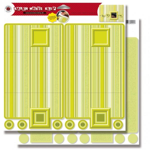 Karten mit Rahmen, 2 Stück, Stanzbogen, 30,5 x 30,5 cm, lindgrün