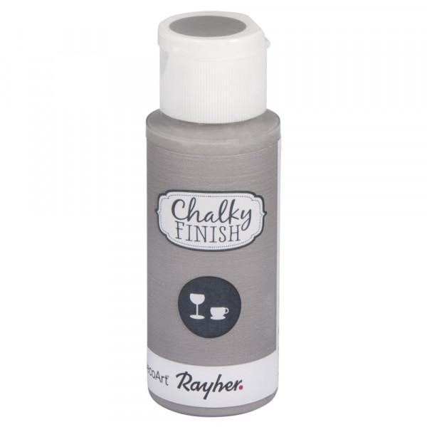 Chalky-Finish Kreidefarbe für Glas 59 ml - hellgrau