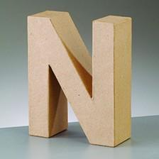 Buchstabe N, 10 x 3 cm, aus Pappmaché
