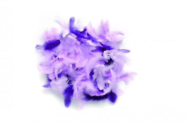 Deco-Federn, 10 gr., lila sortiert