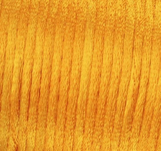 Satin Flechtkordel, Länge 6 m, Stärke 2 mm, gelb