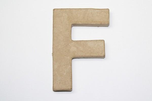 Buchstabe F, 10 x 1 cm, aus Pappmachè