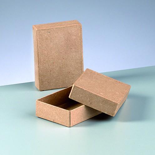 Box Rechteck, aus Pappmaché, 11 x 8 x 3 cm