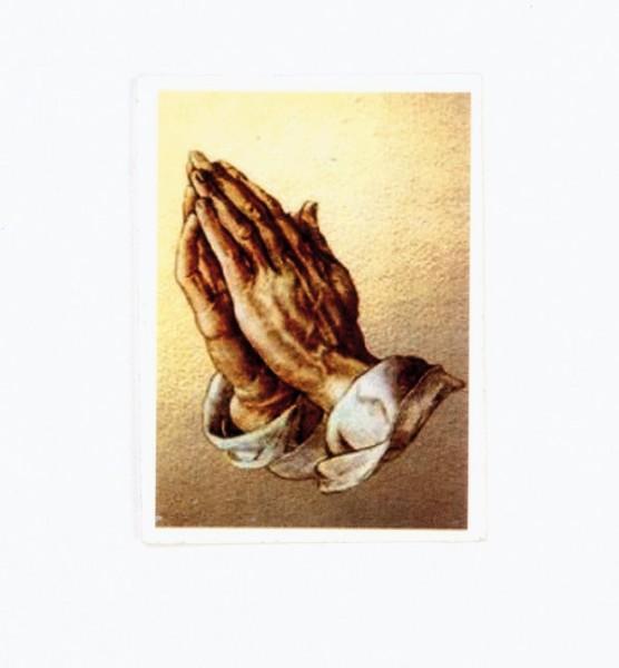 Wachsbild betende Hände, 75 x 50 mm