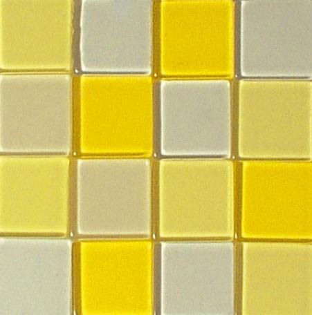 Mosaic Acryl, 1 x 1 cm, ca. 50 g, transparent, lichtgelb