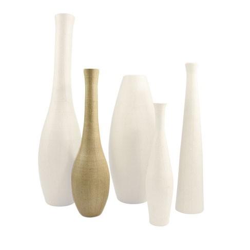Cosmos Vase, m. Innenbeschichtung, aus Pappmachè, 37cm hoch