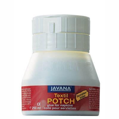 Serviettenkleber für Textilien, JAVANA Textil Potch, 250 ml