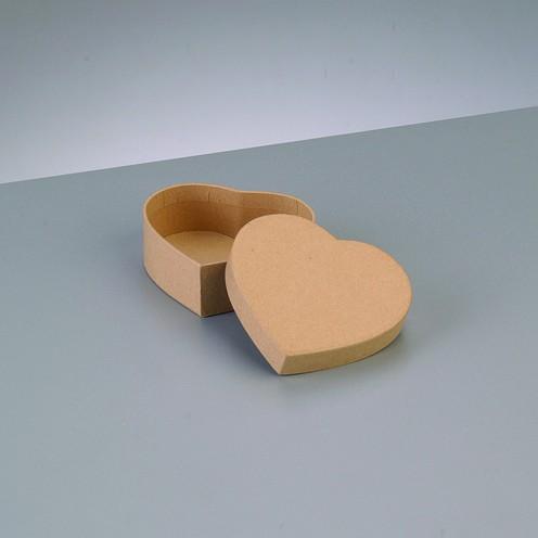 Box Herz, aus Pappmaché, 8,5 x 7,5 x 3,1 cm
