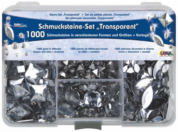 Hobby Line Schmucksteine Set Transparent